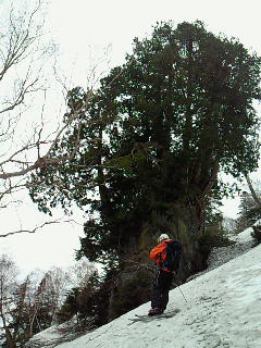 薄皮セッション燧ケ岳、吹雪