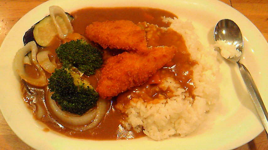 Vegetables Curry & Fried Fish