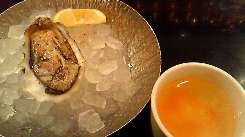 オムレツと牡蠣のセット